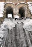 Oude water-molen in de winter Royalty-vrije Stock Afbeelding