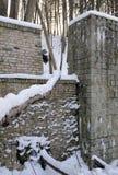 Oude water-molen in de winter Stock Afbeeldingen