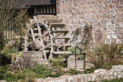 Oude watermolen, Veules des Roses, Normandië Stock Foto's
