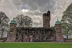 Oude watertoren, Zweden in HDR Stock Foto