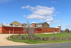 Oude werd gaol van Castlemaine gebouwd in 1861 aan huisovertreders van de goudvelden royalty-vrije stock afbeelding