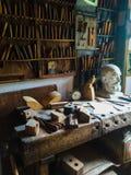 Oude Wereld Houten Workshop Royalty-vrije Stock Afbeelding