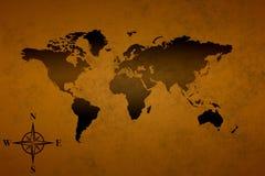 Oude wereldkaart Stock Foto