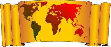 Oude wereldkaart Stock Fotografie