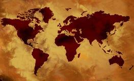 Oude wereldkaart vector illustratie