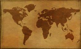 Oude wereldkaart Royalty-vrije Stock Foto