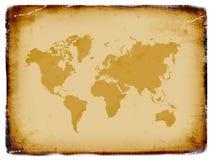 Oude wereldkaart, grunge achtergrond