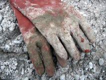 Oude werkende handschoenen Stock Afbeelding