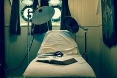 Oude werkende ruimte op een boot royalty-vrije stock foto