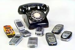Oude werkende Telefoons royalty-vrije stock afbeeldingen