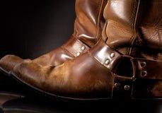 Oude Westelijke Laarzen royalty-vrije stock afbeeldingen