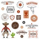 Oude westelijke ontwerpen Stock Foto
