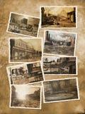 Oude westelijke prentbriefkaaren Stock Foto