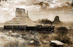 Oude westelijke trein Royalty-vrije Stock Foto