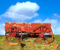 Oude westelijke wagen. royalty-vrije stock foto