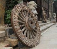 Oude wielen Royalty-vrije Stock Foto's