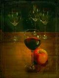 Oude wijn Royalty-vrije Stock Afbeeldingen