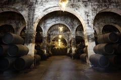 Oude wijnkelder Royalty-vrije Stock Foto's