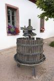 Oude wijnpers Stock Foto