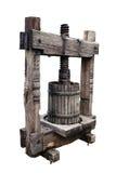 Oude wijnpers op wit Royalty-vrije Stock Foto