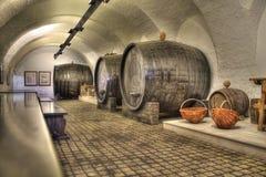 Oude wijnstokkelder Stock Afbeeldingen