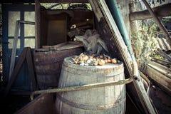 Oude wijnvatten Royalty-vrije Stock Foto's