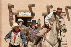 Oude Wilde Westennen Gunfighters stock foto's