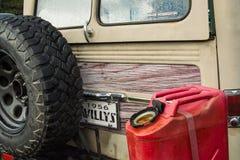 Oude Willy ` s Wagen Houten Kant royalty-vrije stock afbeeldingen