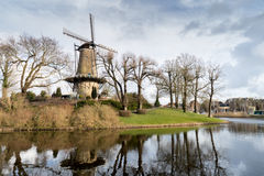 Oude Windmolen in Alkmaar Stock Fotografie