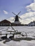 De windmolen van Damgaard dichtbij Aabenraa in Denemarken stock afbeeldingen