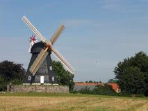Oude windmolen Denemarken stock foto's