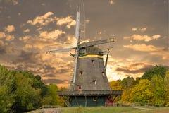 Oude windmolen - Duitsland Royalty-vrije Stock Foto's