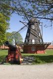 Oude Windmolen in Kopenhagen Royalty-vrije Stock Foto's