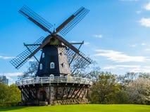 Oude Windmolen in Malmo, Zweden Stock Foto's