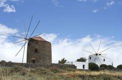 Oude windmolens Royalty-vrije Stock Fotografie