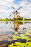 Oude windmolens in Nederland Royalty-vrije Stock Afbeelding