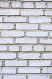 Oude witte bakstenen muur Royalty-vrije Stock Afbeeldingen