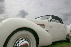 Oude witte car2 Stock Foto's