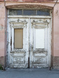 Oude Witte Deur Royalty-vrije Stock Afbeeldingen
