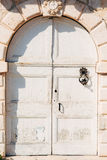 Oude witte deuren Houten Textuur Stock Foto's