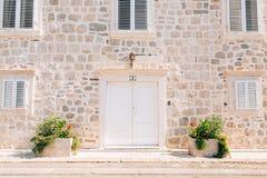 Oude witte deuren Houten Textuur Stock Afbeeldingen