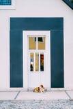 Oude witte deuren Houten Textuur Royalty-vrije Stock Afbeelding
