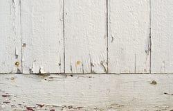 Oude witte geschilderde raadsachtergrond Stock Foto
