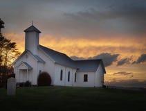 Oude witte kerk Royalty-vrije Stock Foto