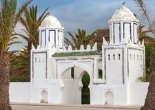 Oude witte poort in Tanger, Marokko Royalty-vrije Stock Afbeelding