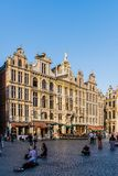 Oude woningen in Grand Place Royalty-vrije Stock Foto's