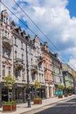 Oude woningen op 3 Mei-Straat Royalty-vrije Stock Afbeeldingen