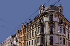Oude woningen op 3 Mei-Straat Royalty-vrije Stock Foto's