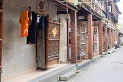 Oude woningen van longhaistad, China Royalty-vrije Stock Fotografie