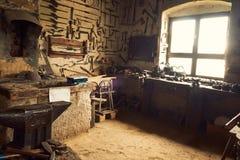 Oude Workshop stock fotografie